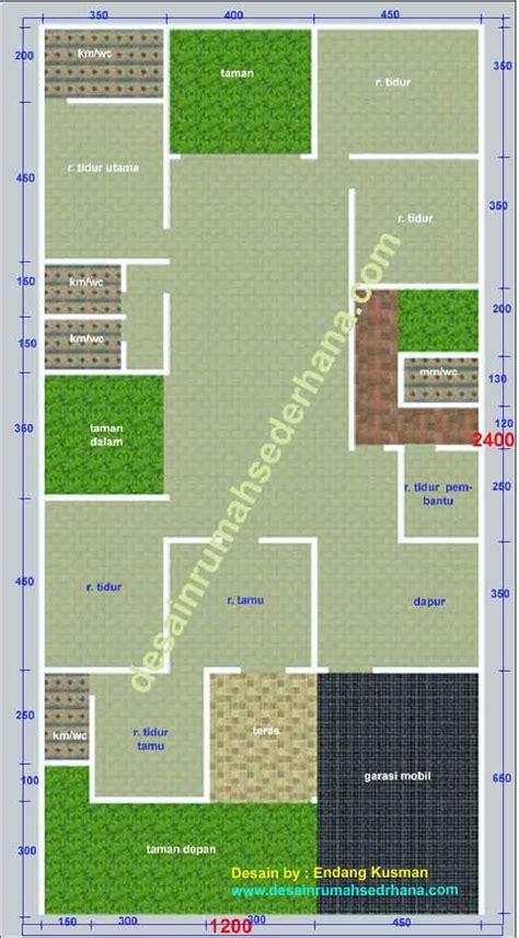contoh denah rumah minimalis  kamar tidur