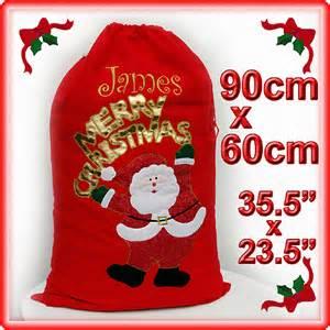 personalised large felt christmas santa sack