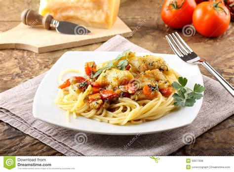 grouper fillet fresh pasta complex background royalty