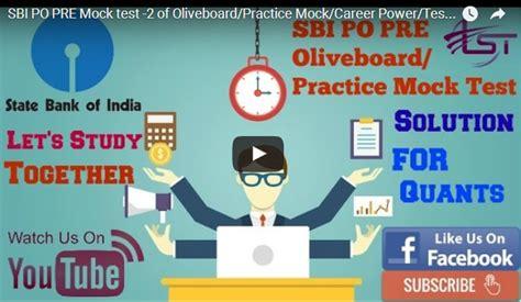 Sbi Po Pre Mock Test2 Of Oliveboardpractice Mockcareer Powertestbook  Let's Study Together