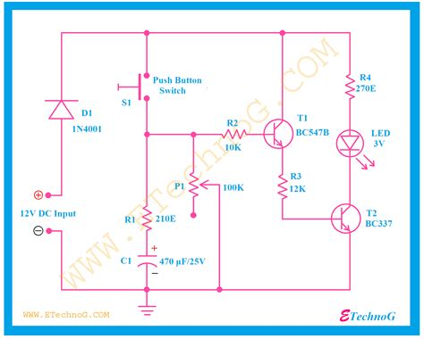 Timer Switch Circuit Diagram For Light Etechnog