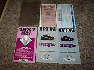1987 Ford Ranger Owner Operator User Guide Manual Gt Stx