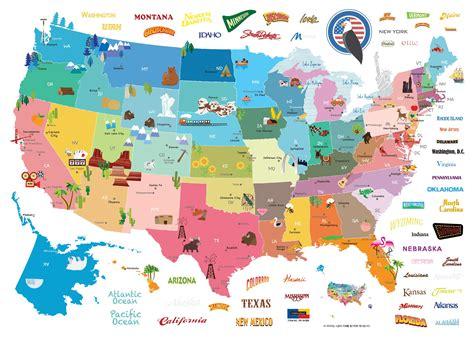 Deco Chambre Etats Unis Stickers Muraux Pour Les Enfants Sticker Enfant Carte