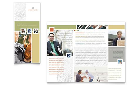 financial services brochure templates word publisher