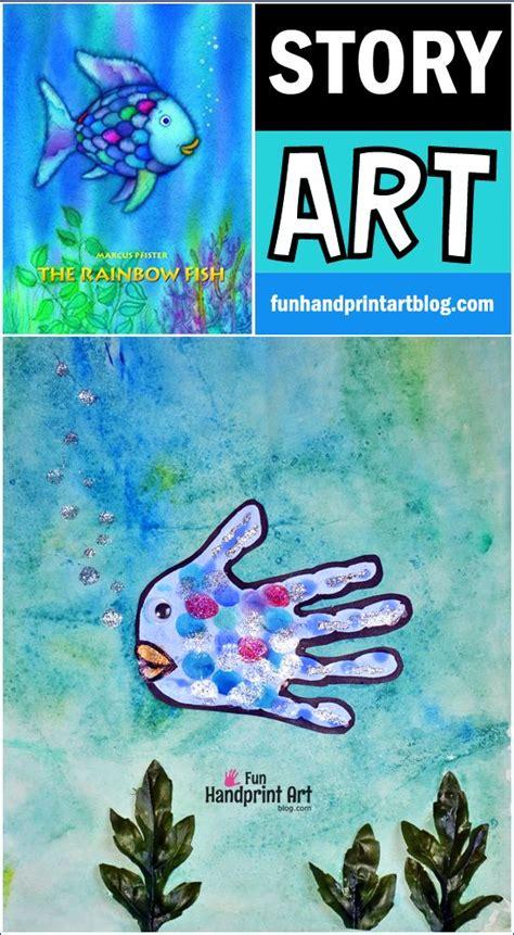 rainbow fish book and handprint craft crafts and 579   da3ab06836f63b54e6a14c7ced49b94e
