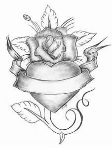 Pencil Drawing Of Roses And Hearts Pencil Drawings Of ...