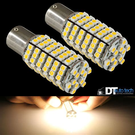 12v led 4x 1156 ba15s rv trailer 12v led lights bulbs 120 smd warm white ebay