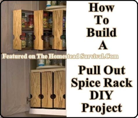 How To Make A Spice Rack Out Of Wood build your own pull out spice racks the homestead