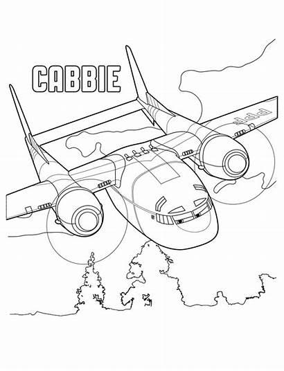 Coloring Planes Kolorowanki Samoloty Rescue Fire Cabbie