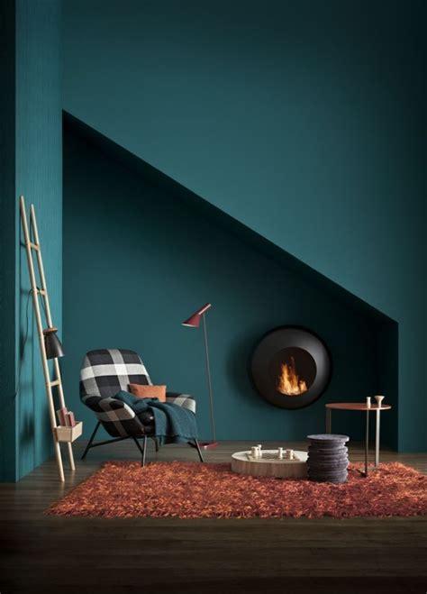 Wandfarbe Petrol ihre Wirkung und Ideen für