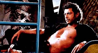 Jeff Goldblum Jurassic Park Statue Lying Open