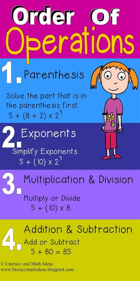 The 25+ Best Order Of Operations Ideas On Pinterest  5th Grade Math, Math Fractions And Algebra