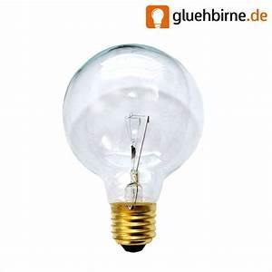 Glühbirne 40 Watt : globe gl hbirne 40w e27 klar g80 80mm globelampe 40 watt gl hlampe gl ~ Frokenaadalensverden.com Haus und Dekorationen