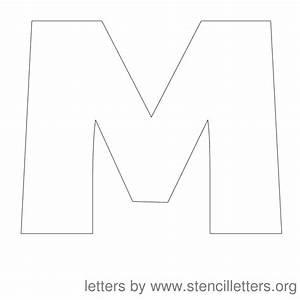 12 Inch Stencil Letter Uppercase M | Teacher stuff ...