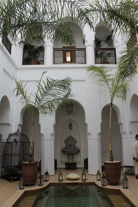 marrakech riad  courtyard courtyards spanish style