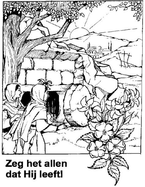 Kleurplaat Lazarus Leeft by Jongeren Pkn Beekbergen En Lieren