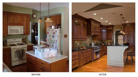 Kitchen Before And After by Small Kitchen Remodel Before And After For Stunning And