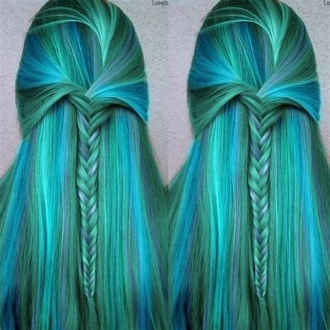Mermaid Hair Color And Style Beautiful Beauty