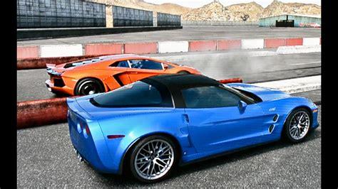 Corvette Zr1 Vs by Corvette Zr1 Vs Lamborghini Aventador Drag Race