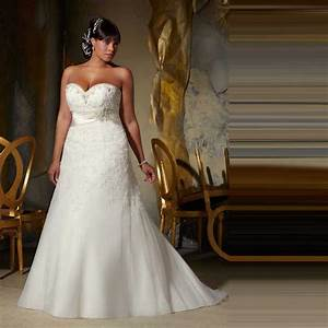 Superior quality tulle floor length sweetheart appliques for Plus size beaded wedding dresses