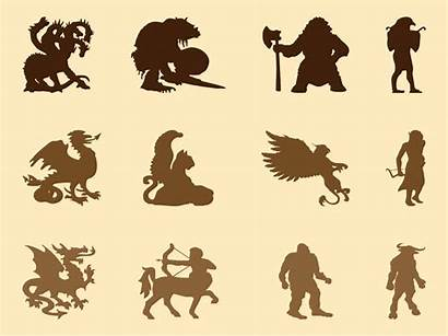 Creatures Mythological Vector Graphics Creature Clipart Animals