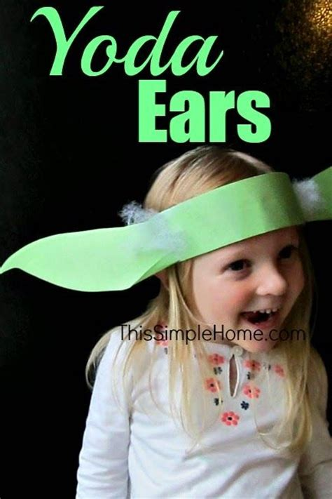 yoda ears headband craft  tutorial starwars yoda