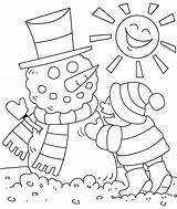 Winter Coloring Pages Colouring Christmas Toddlers Season sketch template