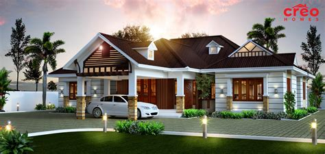 awesome single storied home home design