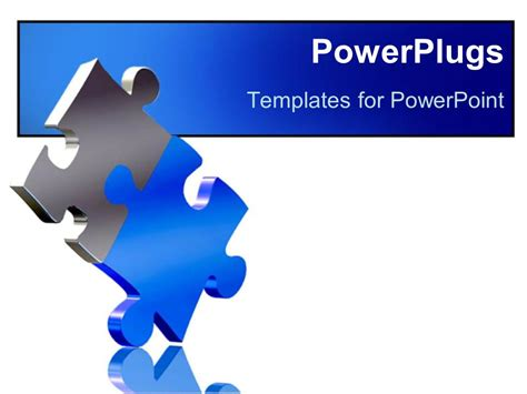 powerpoint template  pieces  puzzle