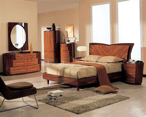two tone wood bedroom furniture two tone finish real wood modern bedroom set