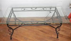 Table Basse Fer Forgé : table basse en verre et fer forg conforama le bois chez vous ~ Teatrodelosmanantiales.com Idées de Décoration