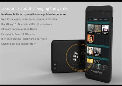 blackberry 10 smartphone exclusive image of a blackberry 10 superphone