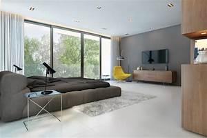 Salon Gris Blanc : d coration salon gris et blanc ~ Dallasstarsshop.com Idées de Décoration