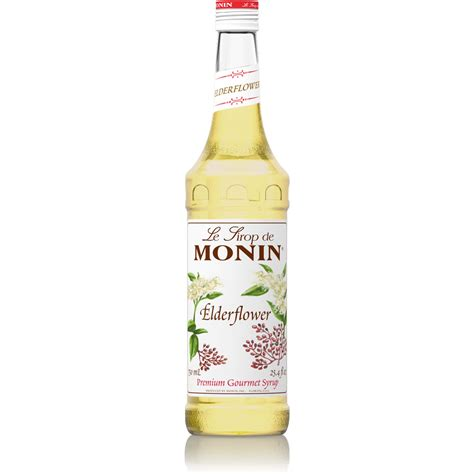monin elderflower syrup  ml bottles  liter bottle