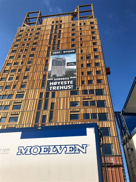 worlds tallest wooden building mjosa tower  voll