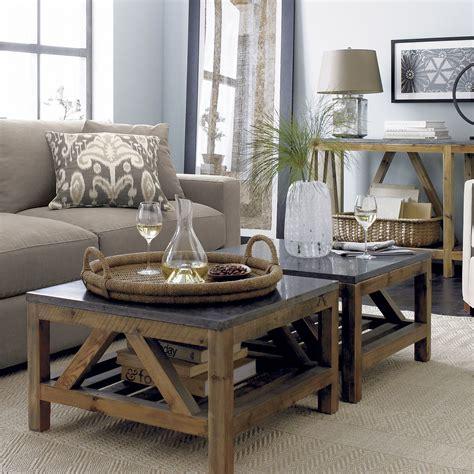 bluestone square coffee table living rooms decorating
