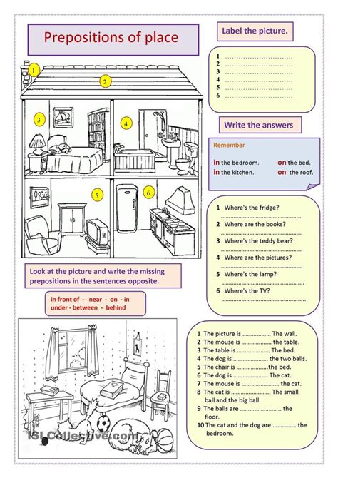 preposition of place worksheet with answers breadandhearth
