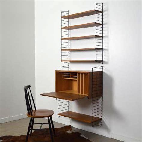 bureau en angle système d étagères bureau string par nisse strinning