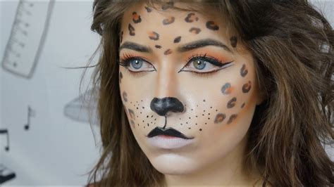 halloween leopard makeup tutorial youtube