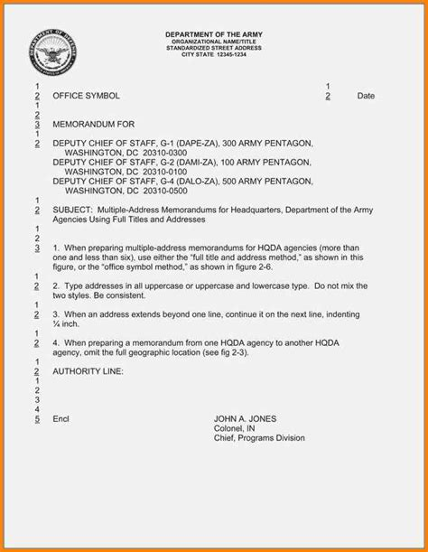 Army Letter Format 15 Army Memo Format Wine Albania