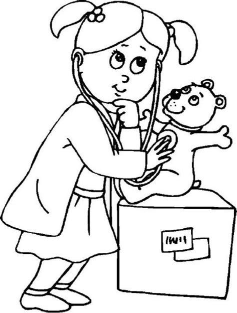 Dokter Kleurplaat by Juf Milou Voor Al Uw Kleuter Onderwijsmateriaal Thema