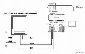 Arduino 8x8 Led Matrix Tutorial With Circuit Diagram  U0026 Code