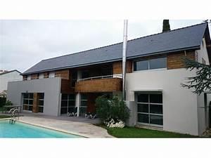 bardage bois maison mzaolcom With couleur facade maison contemporaine 10 maison en bois maison ossature bois bardage douglas