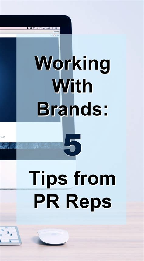 5 Tips For Working With Brands From Pr Reps  Nd Consulting