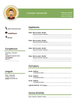 Modele Cv Simple Francais by Exemple Cv Francais Word Model Cv Professionnel 2016 Prbox