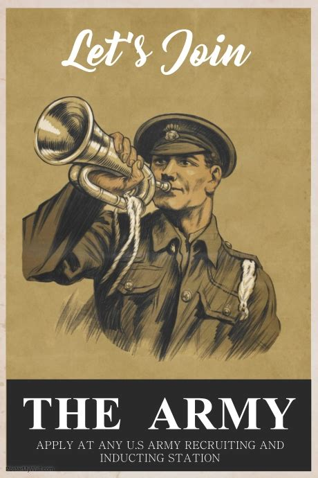vintage army poster template postermywall