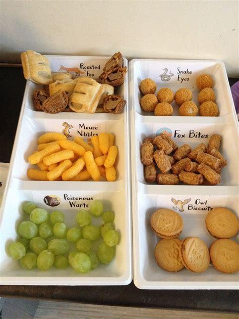 food ideas toddler finger gruffalo themed foods toddler food ideas pinterest