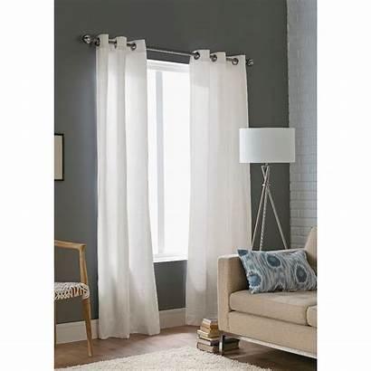 Curtains Grommet Panel Curtain Decorative Threshold Rods
