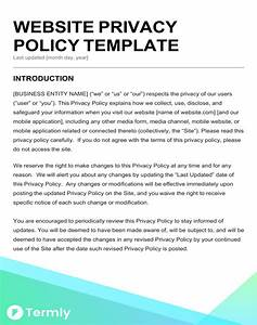 Terms Of Use And Privacy Policy Template Free Privacy Policy Templates Website Mobile FB App Termly