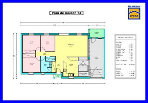 plan de maison simple 3 chambres